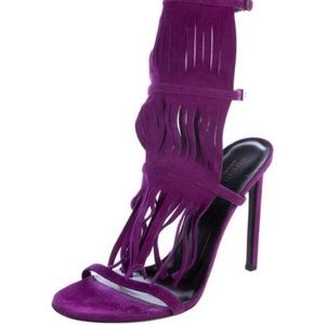 Gucci Becky Sandals in Violet Suede NEVER WORN